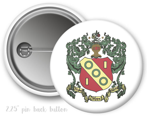 Alpha Gamma Delta Color Crest Button