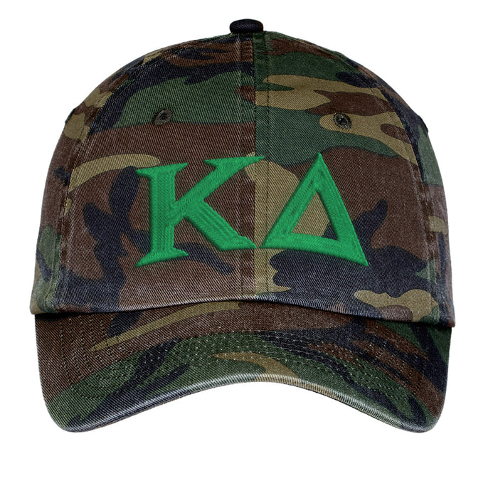 Kappa Delta Letters Embroidered Camouflage Hat