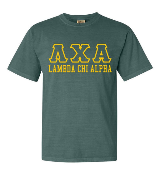 Lambda Chi Alpha Custom Comfort Colors Greek Outline T-Shirt