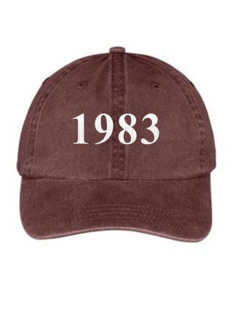 Alpha Omega Epsilon Year Established Embroidered Hat