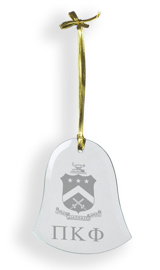 Pi Kappa Phi Glass Bell Ornament