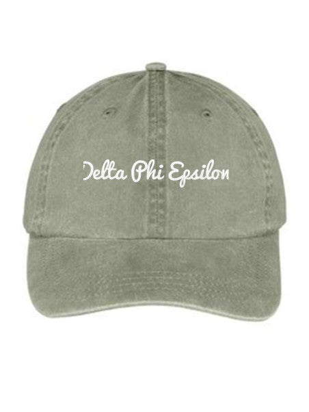 Delta Phi Epsilon Nickname Embroidered Hat