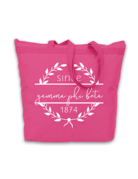 Gamma Phi Beta Since Established Tote