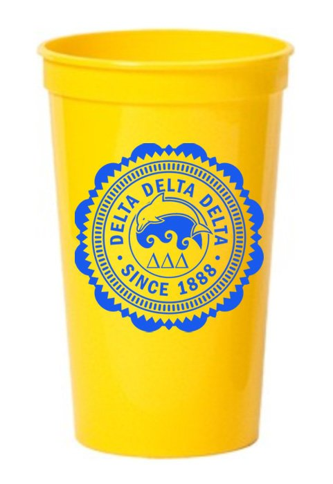 Delta Delta Delta Classic Oldstyle Giant Plastic Cup