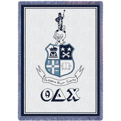 Theta Delta Chi Afghan Blanket Throw