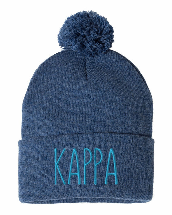 Kappa Kappa Gamma Sorority Beanie With Pom Pom