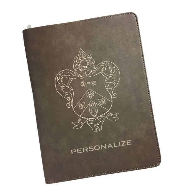 Kappa Kappa Gamma Leatherette Portfolio with Notepad