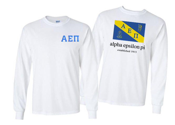 Alpha Epsilon Pi Long Sleeve Flag Tee
