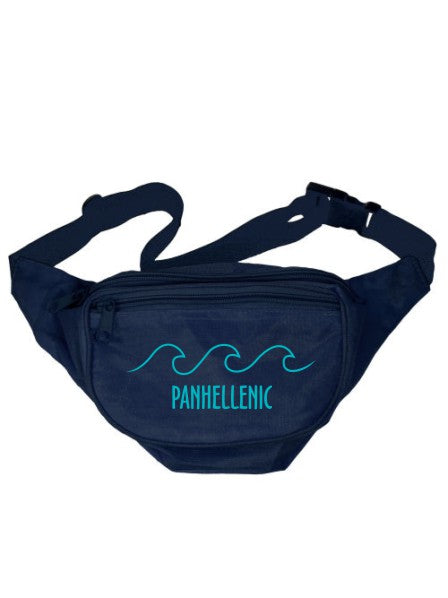 Panhellenic Wave Outline Fanny Pack