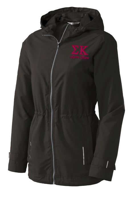 Sigma Kappa Embroidered Ladies Northwest Slicker