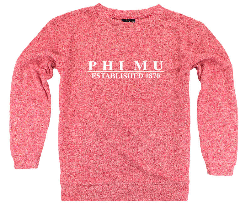 Phi Mu Year Established Cozy Sweater