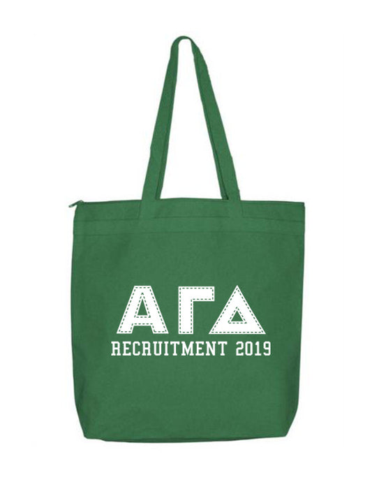 Alpha Gamma Delta Collegiate Letters Event Tote Bag