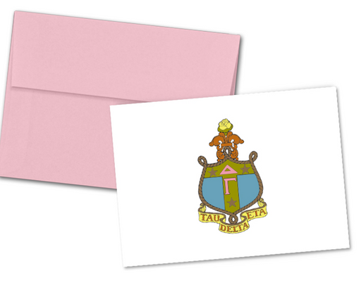 Delta Gamma Sorority Crest Note Cards