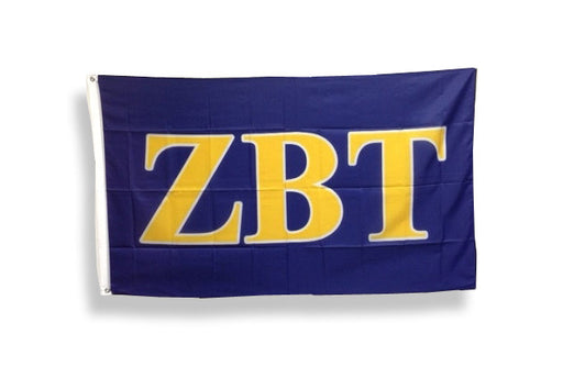 Zeta Beta Tau Big Letter Flag