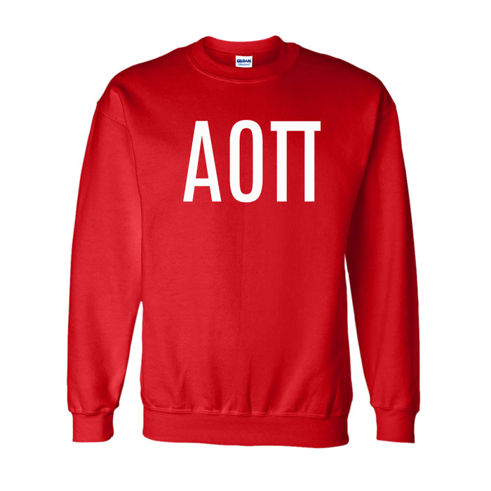 Alpha Omicron Pi World Famous Lettered Crewneck Sweatshirt