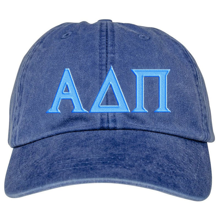 Alpha Delta Pi Greek Letter Embroidered Hat