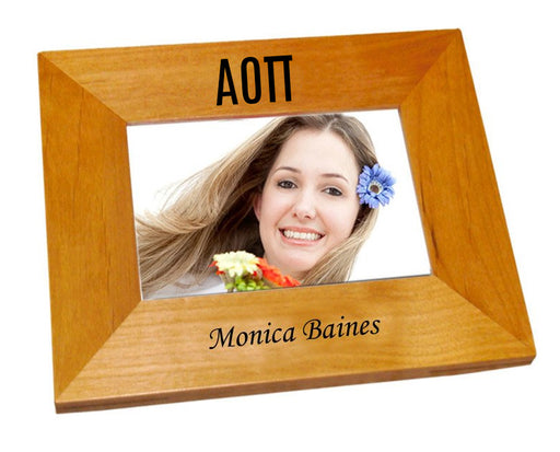 Alpha Omicron Pi Wood Picture Frame
