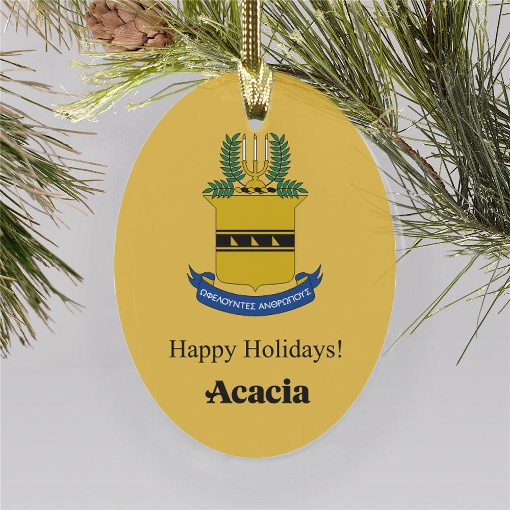Acacia Color Crest Ornament