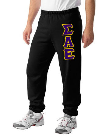 Sigma Alpha Epsilon Sweatpants with Sewn-On Letters