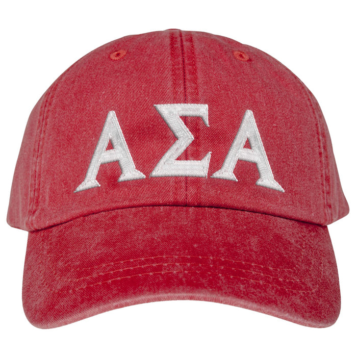 Alpha Sigma Alpha Greek Letter Embroidered Hat