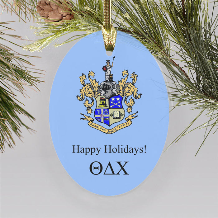 Theta Delta Chi Color Crest Ornament