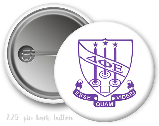 Delta Phi Epsilon Color Crest Button
