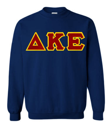 Delta Kappa Epsilon Classic Colors Sewn-On Letter Crewneck