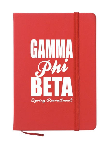 Gamma Phi Beta Cursive Impact Notebook