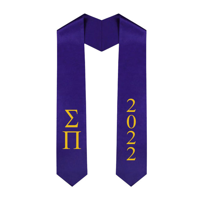 Sigma Pi Vertical Grad Stole with Letters & Year