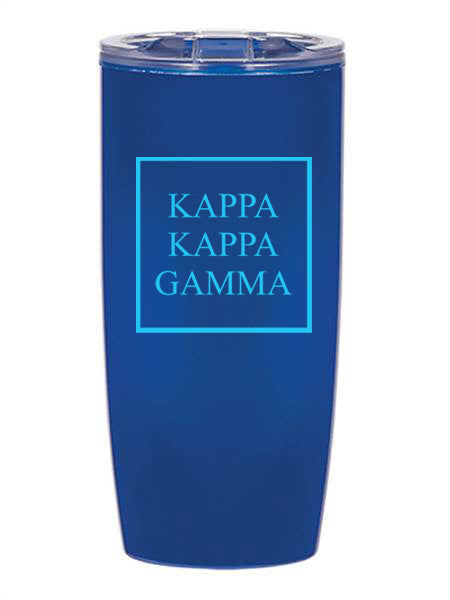 Kappa Kappa Gamma Box Stacked 19 oz Everest Tumbler
