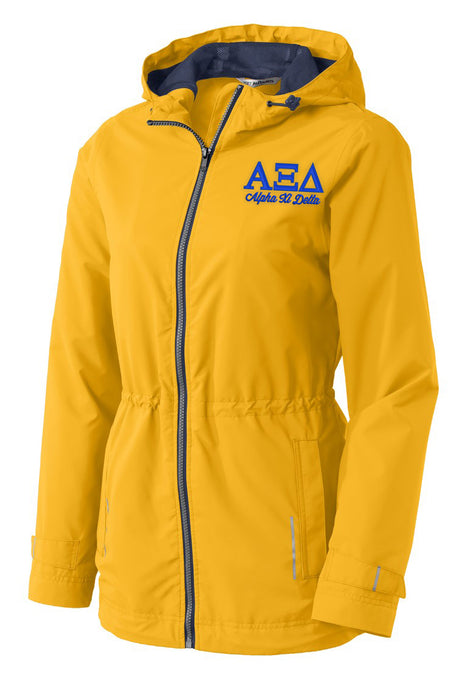 Alpha Xi Delta Embroidered Ladies Northwest Slicker