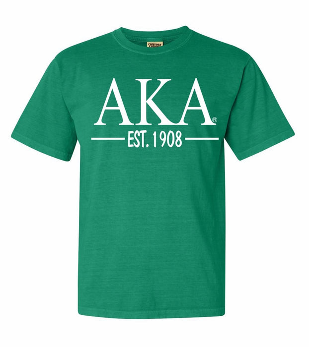 Alpha Kappa Alpha Comfort Colors Established Sorority T-Shirt