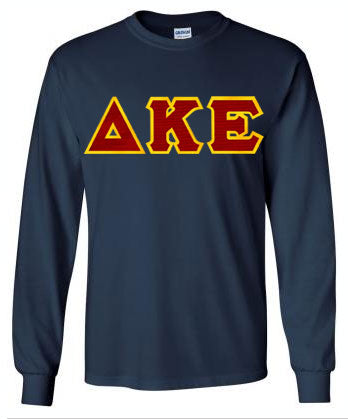 Delta Kappa Epsilon Long Sleeve Greek Lettered Tee