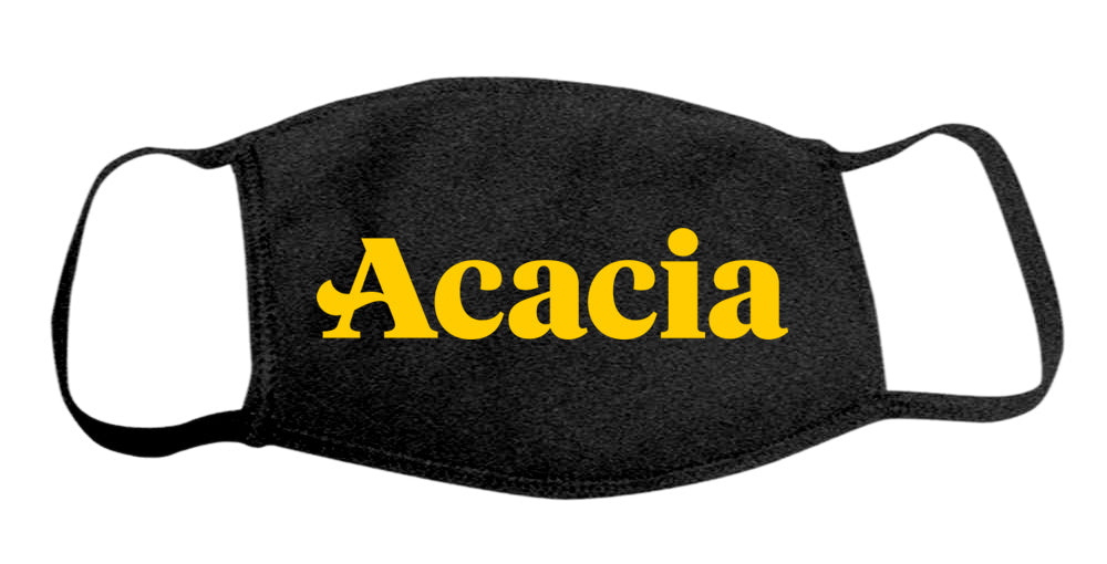 Acacia Face Mask With Big Greek Letters