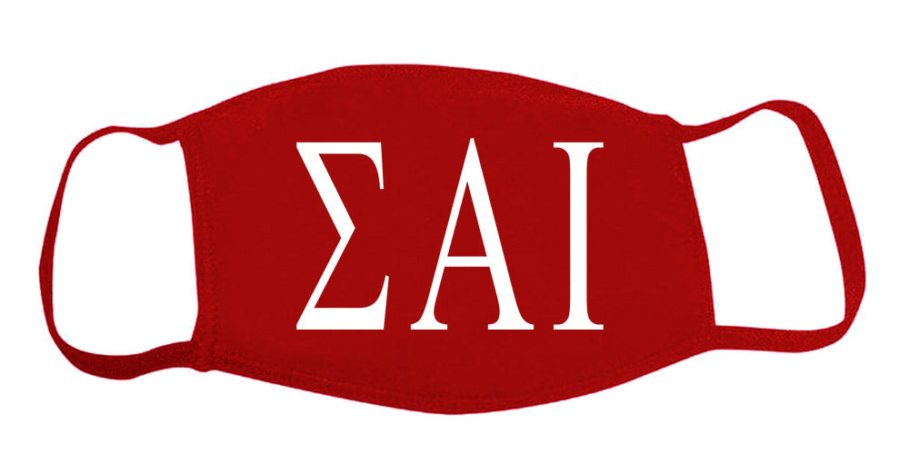 Sigma Alpha Iota Face Mask With Big Greek Letters