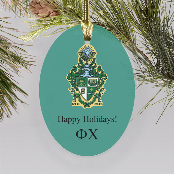 Phi Chi Color Crest Ornament