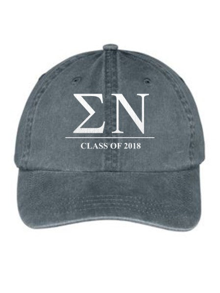 Sigma Nu Embroidered Hat with Custom Text