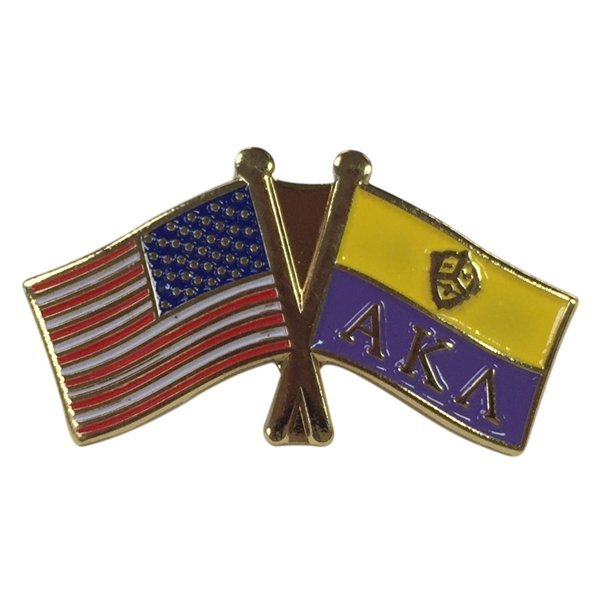 Alpha Kappa Lambda Fraternity Flag Pin