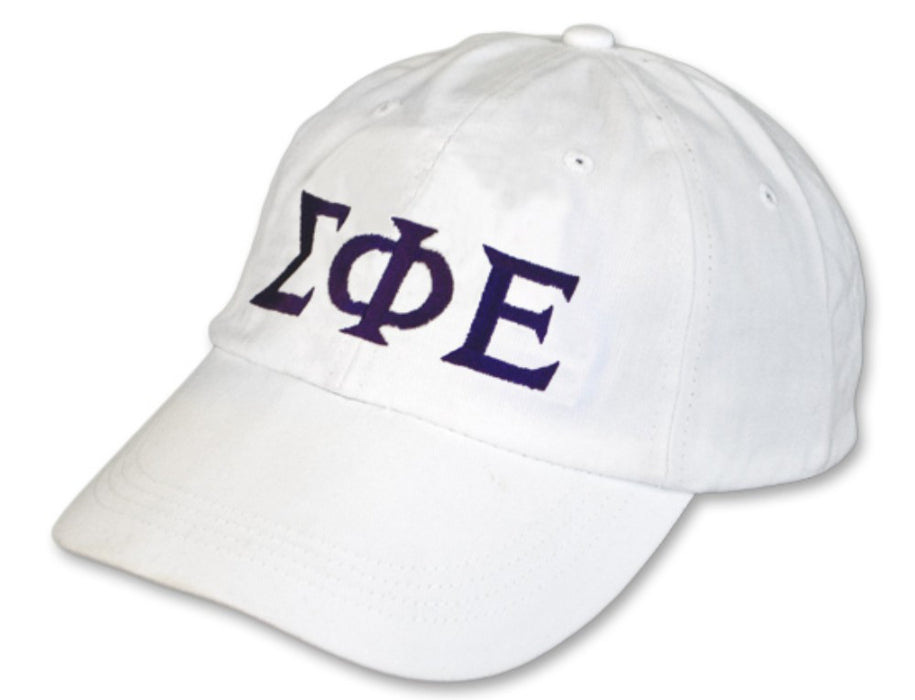 Sigma Phi Epsilon Greek Letter Embroidered Hat