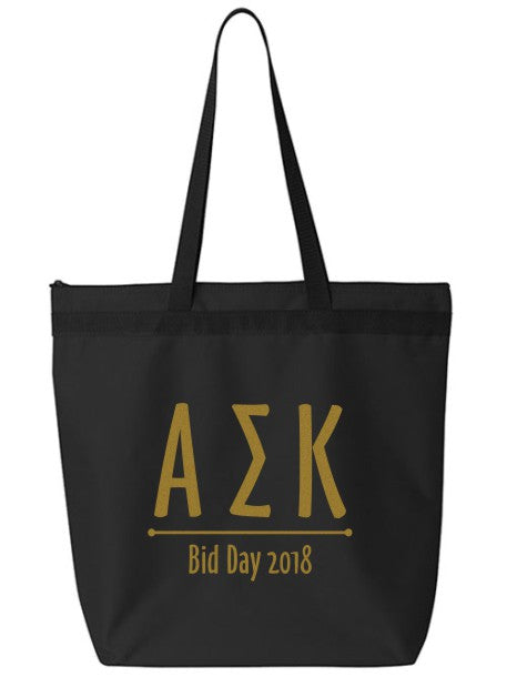 Alpha Sigma Kappa Oz Letters Event Tote Bag