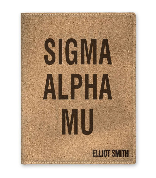 Sigma Alpha Mu Cork Portfolio with Notepad
