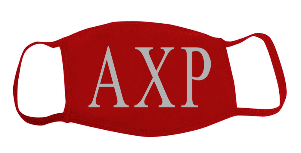 Alpha Chi Rho Face Mask With Big Greek Letters