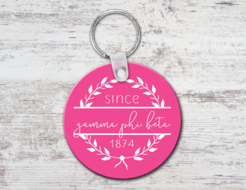Gamma Phi Beta Since Established Keyring