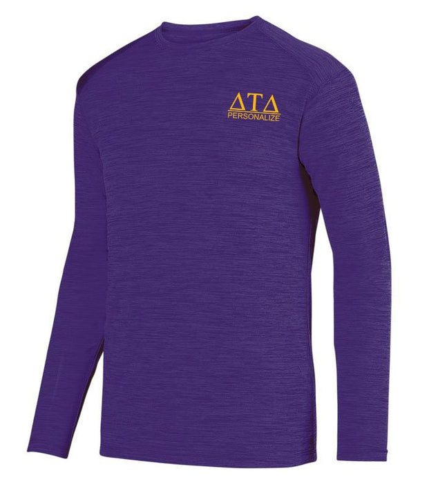 Delta Tau Delta $20 World Famous Dry Fit Tonal Long Sleeve Tee