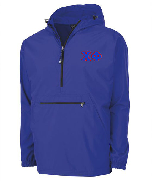 Chi Phi Embroidered Pack and Go Pullover