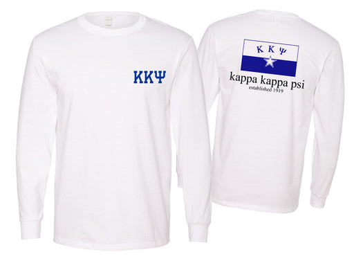 Kappa Kappa Psi Long Sleeve Flag Tee