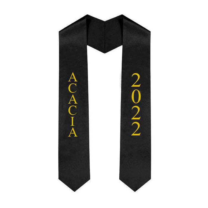 Acacia Vertical Grad Stole with Letters & Year