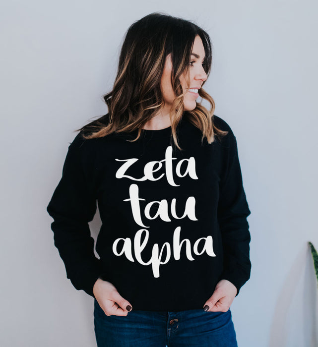 Zeta Tau Alpha Superscript Crewneck Sweatshirt