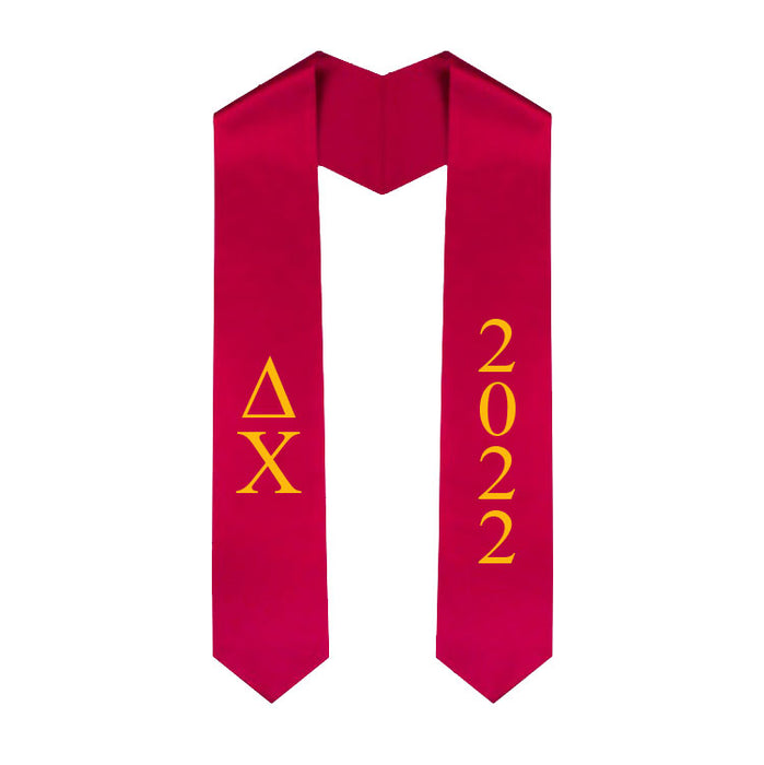 Delta Chi Vertical Grad Stole with Letters & Year
