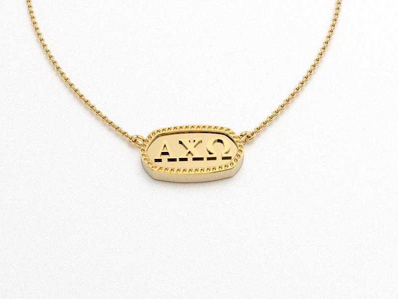 Alpha Chi Omega Greek Necklace
